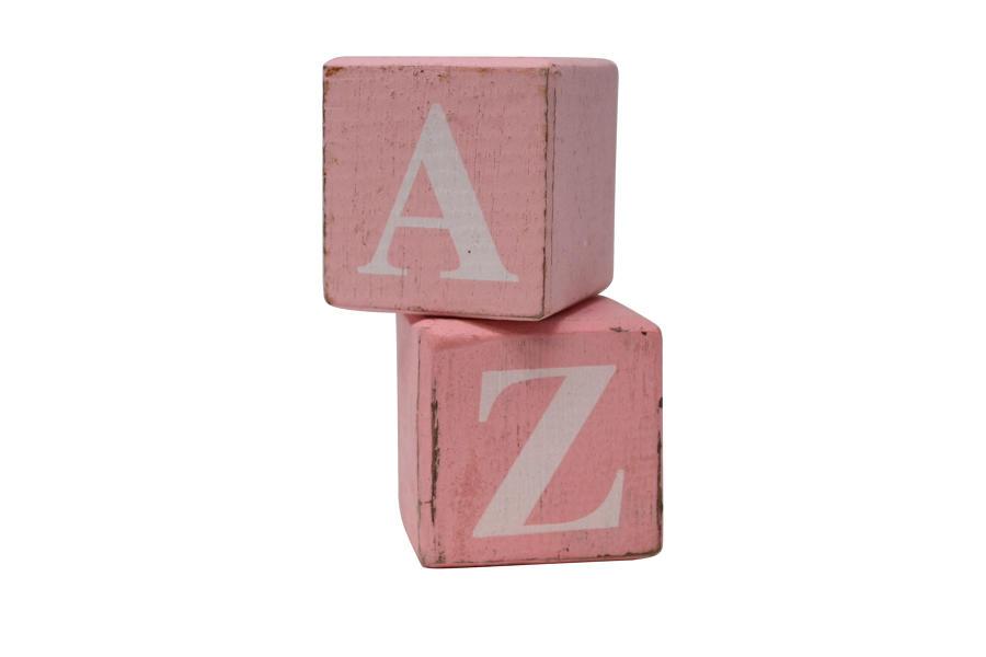 Pink Block White Letter