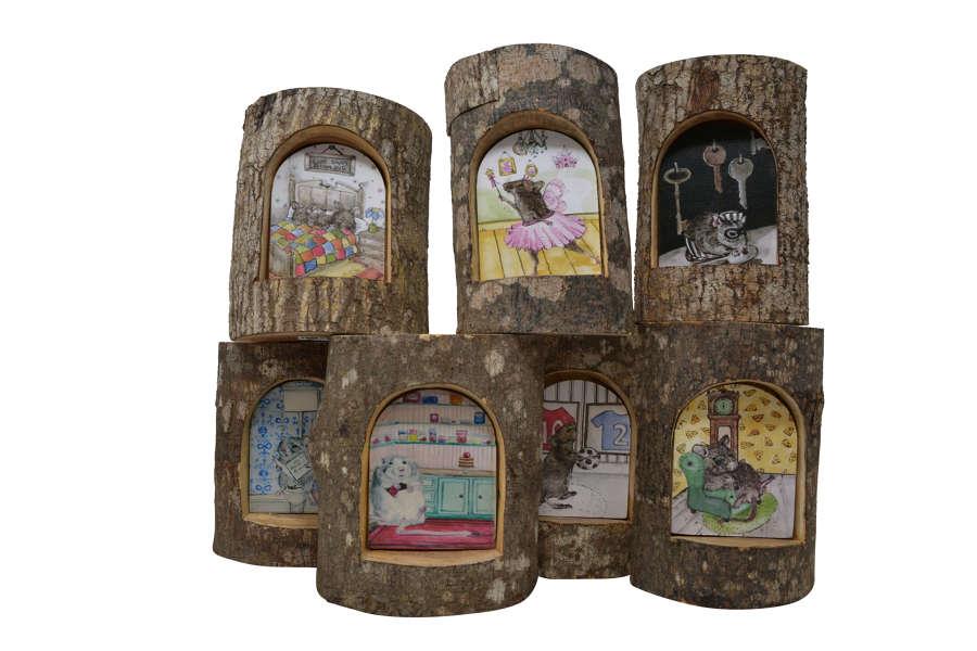 Half Log Mouse Doors
